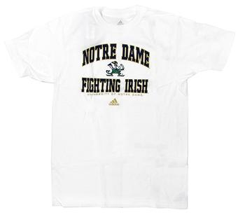 Notre Dame Fighting Irish Adidas White T-Shirt (Adult Medium)