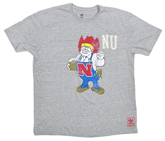 Nebraska Cornhuskers Grey Adidas Herbie Tri-Blend T-Shirt (Size Medium)