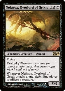 Magic the Gathering 2013 Single Nefarox, Overlord of Grixis Foil