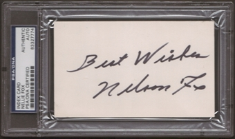 Nellie Fox Autograph (Index Card) PSA/DNA Certified *7774