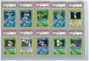 Pokemon Neo Genesis 1st edition Complete 111/111 Set - All Holos PSA Graded Avg 9.13 MINT