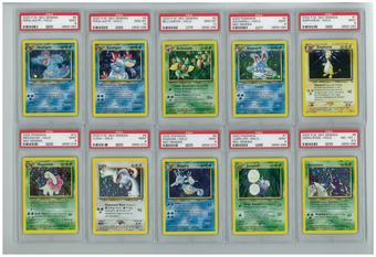 Pokemon Neo Genesis Unlimited Complete 111/111 Set - All Holos PSA Graded Avg 9.18 MINT