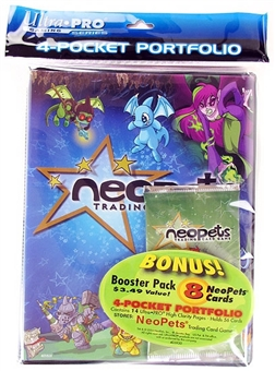 Ultra Pro NeoPets 4-Pocket Portfolio with Booster Pack (14 Pages)