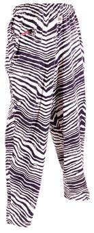 New England Patriots Zubaz Navy and White Zebra Print Pants