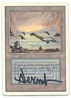 Magic the Gathering Unlimited Single Underground Sea SLIGHT PLAY - ARTIST ALTERED