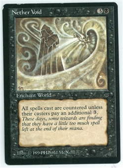 Magic the Gathering Legends Single Nether Void - MODERATE PLAY (MP)