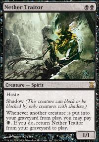 Magic the Gathering Time Spiral Single Nether Traitor - NEAR MINT (NM)