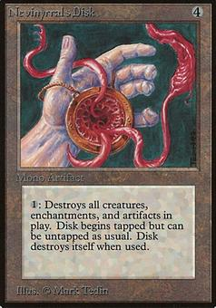 Magic the Gathering Beta Single Nevinyrral's Disk - MODERATE PLAY (MP)