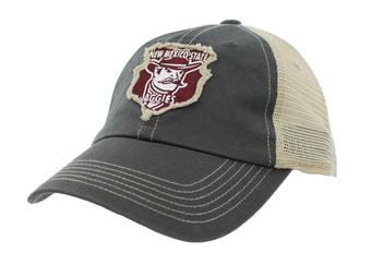 New Mexico State Aggies Top Of The World Slated Gray Snapback Hat (Adult One Size)