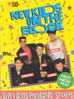 New Kids on the Block Wax Box (1989 Topps)