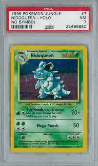 Pokemon Jungle - No Set Symbol Error Nidoqueen 7/64 Holo Rare PSA 7