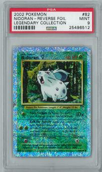 Pokemon Legendary Collection Nidoran F 82/110 Common - Reverse Foil PSA 9