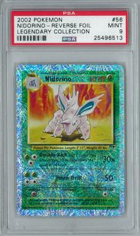 Pokemon Legendary Collection Nidorino 56/110 Uncommon - Reverse Foil PSA 9