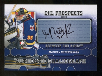 2012/13 In the Game Between The Pipes Autographs #AMN Mathias Niederberger Autograph