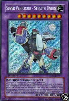Yu-Gi-Oh Gladiator's Assault Single Super Vehicroid Stealth Union Secret Rare