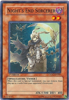 Yu-Gi-Oh Crossroads of Chaos Single Night's End Sorcerer Super Rare