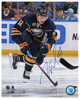 Nikita Zadorov Autographed Buffalo Sabres Skating 8x10 Hockey Photo
