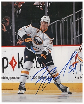 Nikita Zadorov Autographed Buffalo Sabres Passing 8x10 Hockey Photo