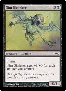 Magic the Gathering Mirrodin Single Nim Shrieker Foil