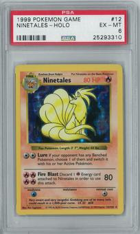 Pokemon Base Set Shadowless Ninetales 12/102 Holo Rare PSA 6