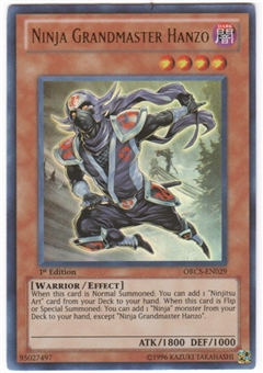 Yu-Gi-Oh Order of Chaos Single Ninja Grandmaster Hanzo Ultimate Rare
