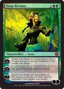 Magic the Gathering Promotional Single Nissa Revane Foil - SLIGHT PLAY (SP)