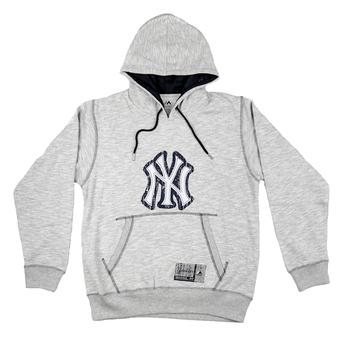 New York Yankees Majestic Heather Gray Forged Tradition Logo Hoodie (Adult M)