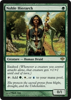 Magic the Gathering Conflux Single Noble Hierarch - SLIGHT PLAY (SP)