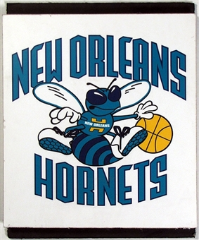 New Orleans Hornets 2004 NBA Draft Board Team Logo Panels