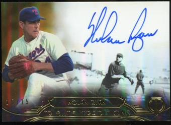 2014 Topps Tribute Tribute Traditions Autographs Gold #TTNR Nolan Ryan 15/15