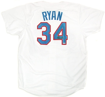 Nolan Ryan Autographed Texas Rangers Authentic Jersey (UDA COA)