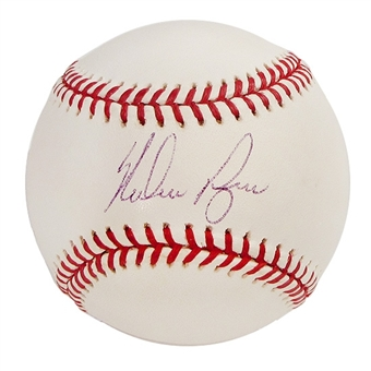 Nolan Ryan Autographed Official Major League Baseball (GAI COA)