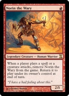 Magic the Gathering Time Spiral Single Norin the Wary FOIL - SLIGHT PLAY (SP)