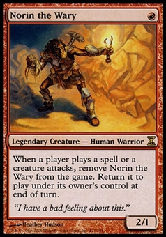 Magic the Gathering Time Spiral Single Norin the Wary FOIL - NEAR MINT (NM)