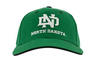 North Dakota Fighting Hawks Top Of The World Classic Green Adjustable Hat (Adult One Size)