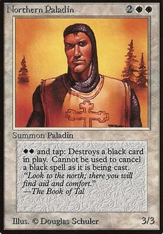 Magic the Gathering Beta Single Northern Paladin - SLIGHT PLAY (SP)