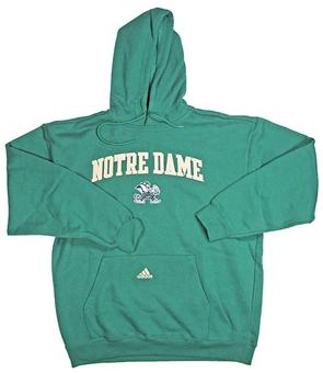 Notre Dame Fighting Irish Adidas Green Game Day Hoodie (Size X-Large)