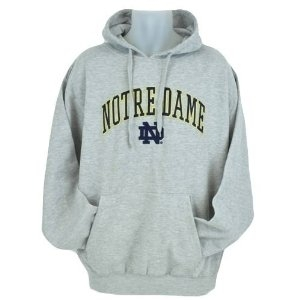 Notre Dame Fighting Irish NCAA Genuine Stuff Grey Fleece Hoodie (Size Small)