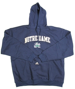 Notre Dame Fighting Irish Adidas Navy Game Day Hoodie (Size Medium)