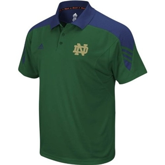 Notre Dame Fighting Irish Adidas Green Premier Polo Shirt (Size Large)