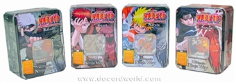 Naruto Ultimate Ninja Way - Set of 4 Tins (Bandai 2007)
