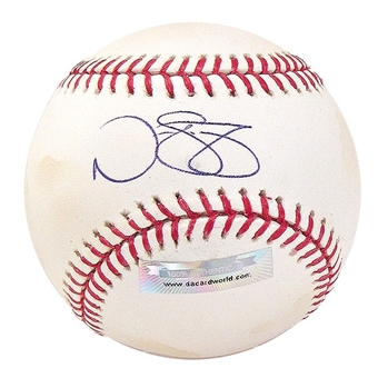 Nate Schierholtz Autographed Baseball (Stained) (DACW COA)