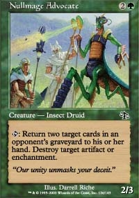 Magic the Gathering Judgment Single Nullmage Advocate Foil
