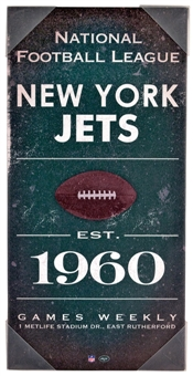 New York Jets Artissimo Vintage Sign 24x12 Canvas