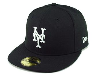 New York Mets New Era 59Fifty Fitted Black Hat (7 1/2)