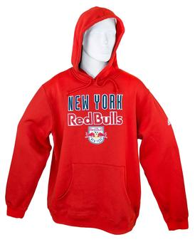 New York Red Bulls Adidas Red Playbook Hoodie (Adult M)