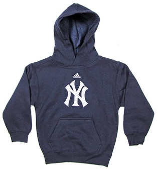 New York Yankees Adidas Navy Team Logo Fleece Hoodie (Size Boys L/7)