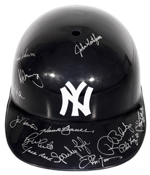 New York Yankees Autographed Multi-Signed Hard Hat Helmet
