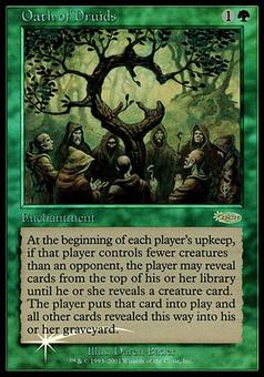 Magic the Gathering Judge Foil Single Oath of Druids - NEAR MINT (NM)
