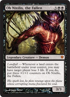 Magic the Gathering Zendikar Single Ob Nixilis, the Fallen Foil